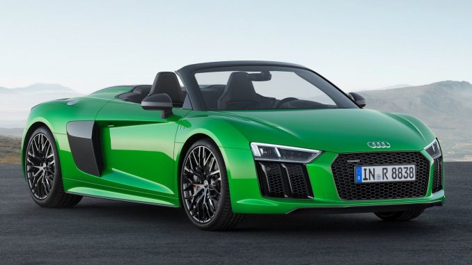 audi r8 spyder v10 plus 2018 moteur v10 qui d veloppe 610 chevaux. Black Bedroom Furniture Sets. Home Design Ideas