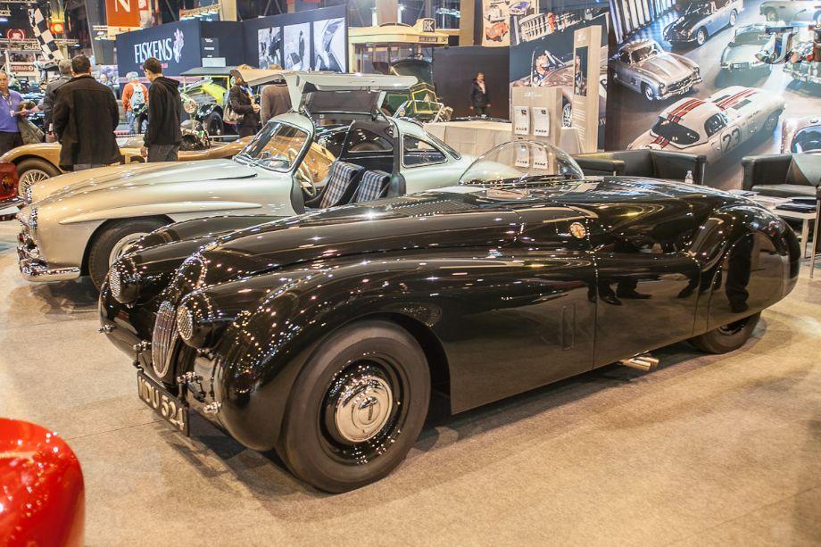 Jaguar XK120 record car - JD Classics stand