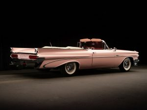 1959 Pontiac Catalina Convertible Pink Lady by Harly Earl