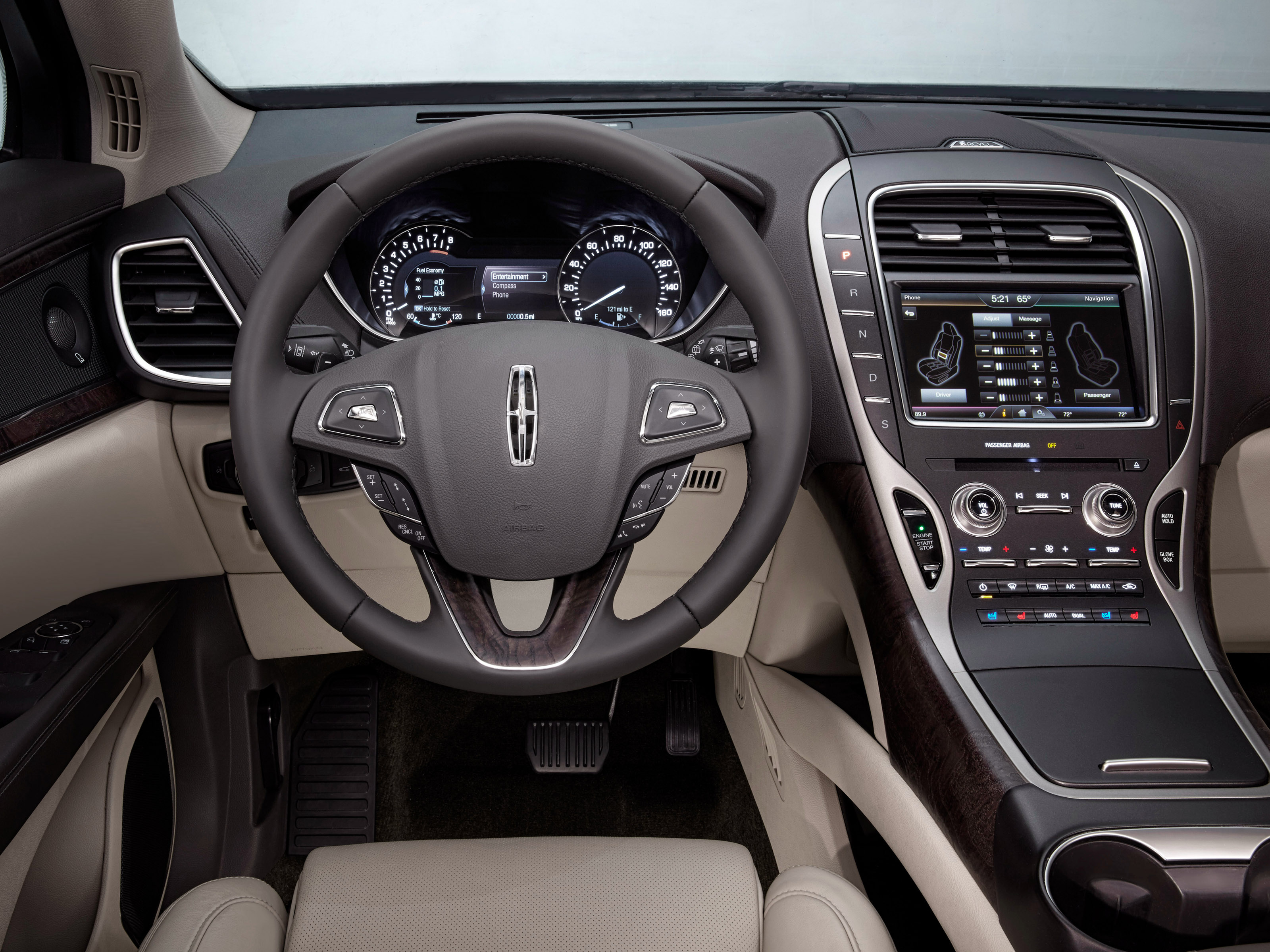 2015 Lincoln MKX Dashboard