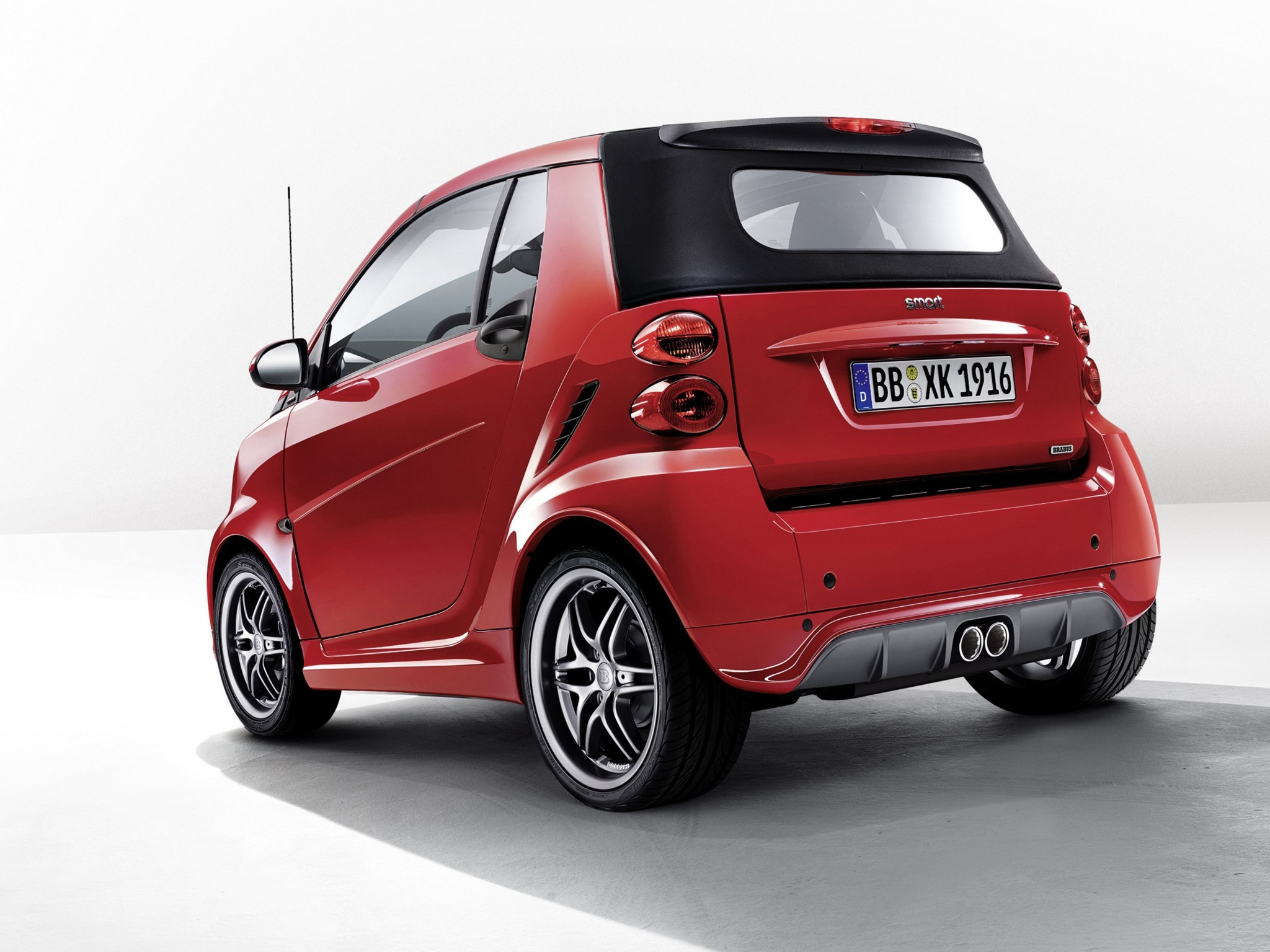 2014 Brabus Smart Fortwo Cabrio Xclusive Red