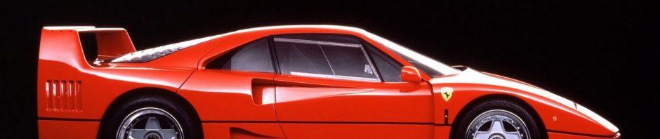 La Ferrari F40 qui défini une époque. F40 est encore un rêve pour les fans