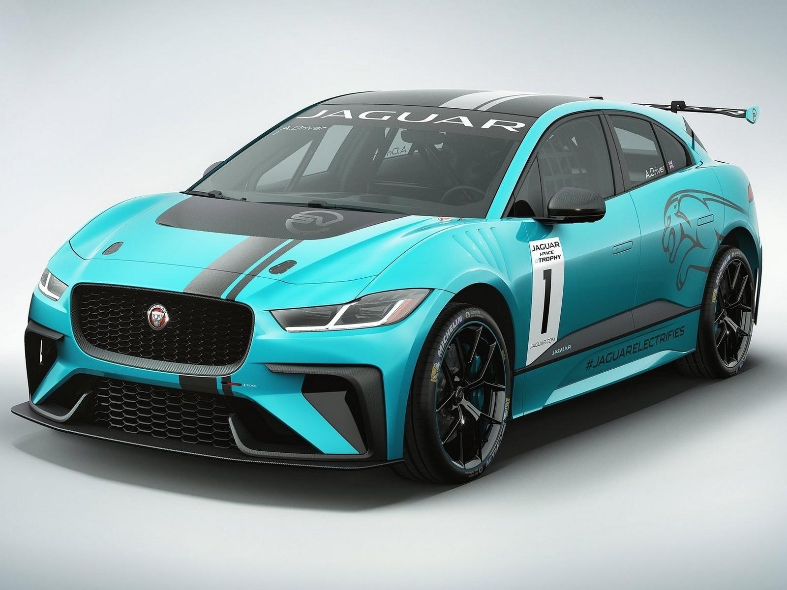 Jaguar I-Pace eTrophy Racecar 2018 – Le crossover électrique
