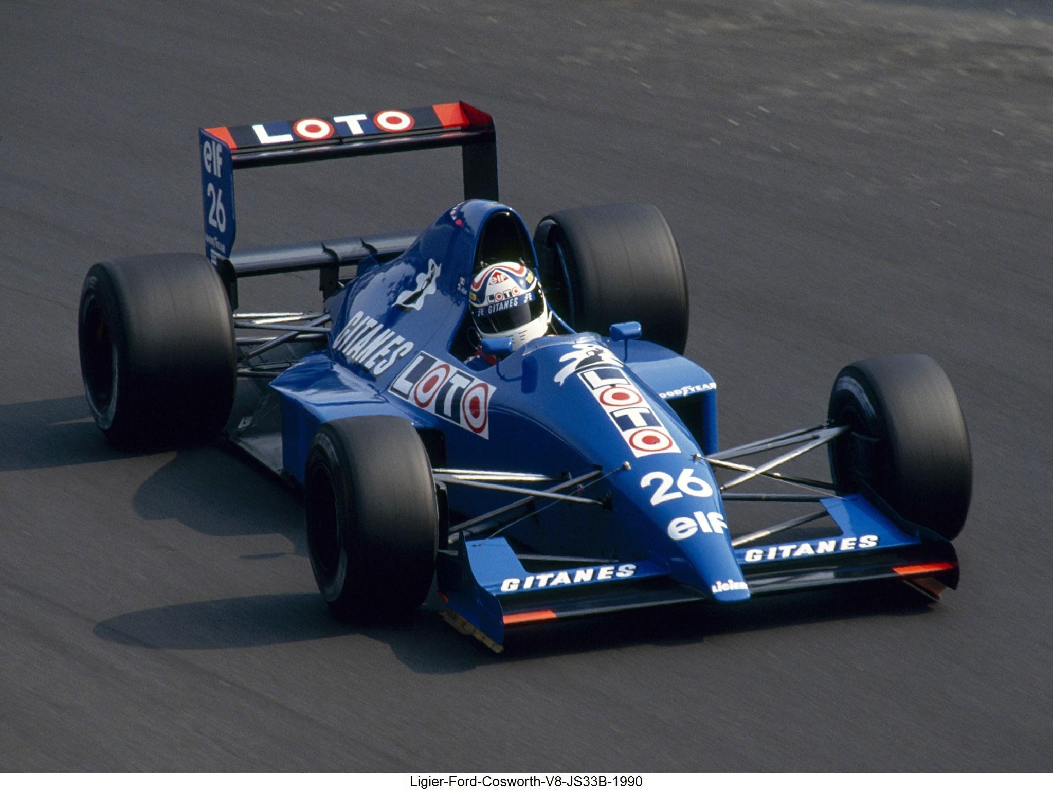 Ligier Ford Cosworth V8 JS33B 1990