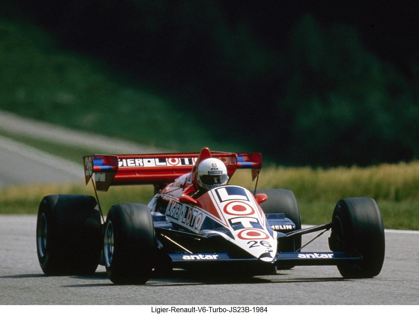 Ligier Renault V6 Turbo JS23B 1984