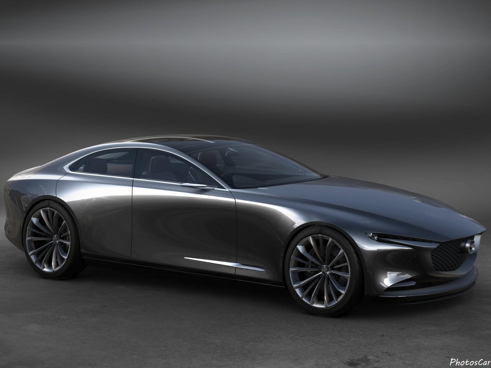 Mazda Vision Coupé Concept 2017 : Son corps a un design très stylisé.