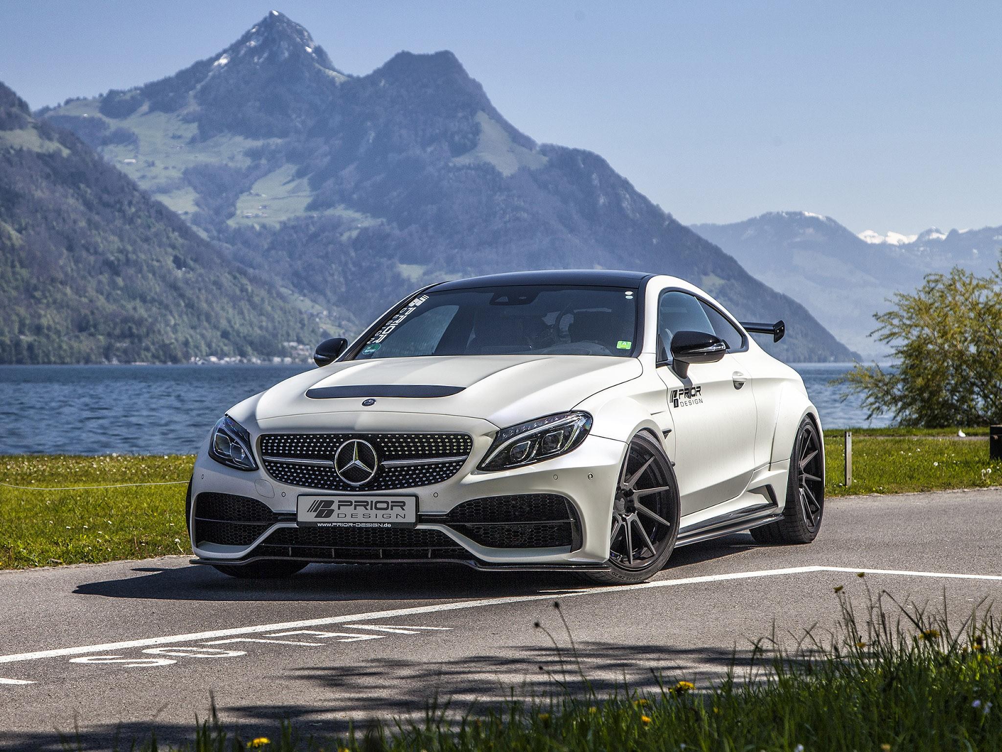 Mercedes pd65cc W205 2017 Prior Design: kit de carrosserie large