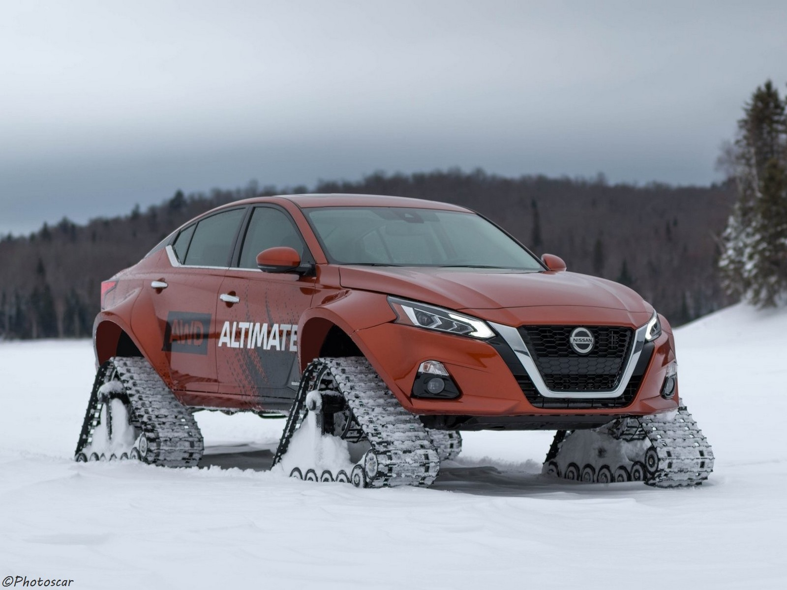 Nissan Altima te AWD Concept 2019 – Nouveau prototype avec chenilles